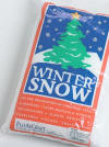 One of our craft supplies - Bag of winter snow