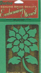 One of our collectible stencils - Poinsettia stencil