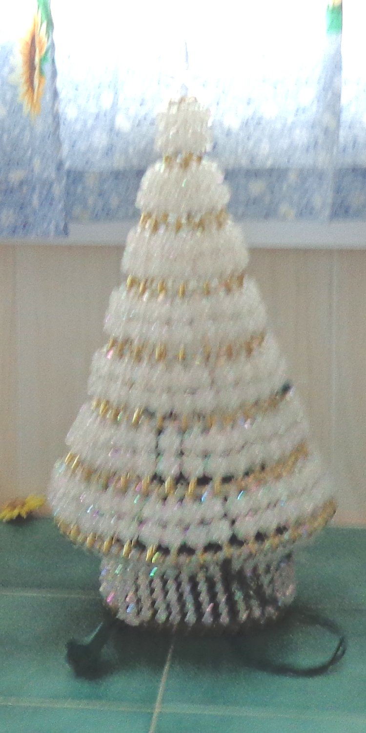 19 Inch Beaded Christmas Tree Kit